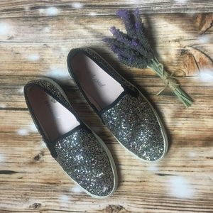 Wet seal sparkly slip-on shoes